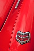 Deluxe Prints - 1940 Ford Deluxe Coupe Taillight Print by Jill Reger