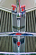 1940 Ford Photos - 1940 Ford Grille Emblems by Jill Reger