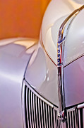 Historic Vehicle Prints - 1940 Ford Hood Ornament Print by Jill Reger