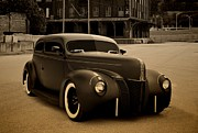 Ford Sedan Prints - 1940 Ford Sedan Hot Rod Print by Tim McCullough