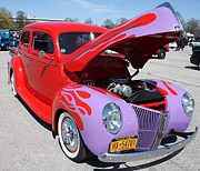 Purple Ford Photos - 1940 Ford Two Door Sedan Hot Rod by John Telfer