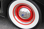 Vintage Auto Prints - 1940 Ford Whitewall Tire Print by Suzanne Gaff