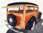 Woodies Framed Prints - 1940 Ford Woody Framed Print by Gary Roderer
