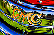 Car Photography Posters - 1940 GMC Pickup Truck Emblem Poster by Jill Reger
