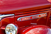 Motors Metal Prints - 1940 GMC Side Emblem Metal Print by Jill Reger