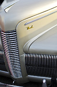 Car Abstract Prints - 1940 Nash Grille Print by Jill Reger