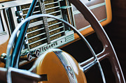 Deluxe Prints - 1940 Plymouth Deluxe Woody Wagon Steering Wheel Print by Jill Reger