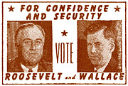 Democrat Paintings - 1940 Vote Roosevelt and Wallace by Historic Image