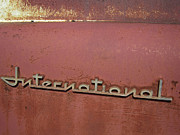 Classic Trucks Photos - 1940s ERA INTERNATIONAL HARVESTER TRUCK INSIGNIA by Daniel Hagerman