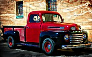 1940s Red Pick Up Print by Barbara Chichester