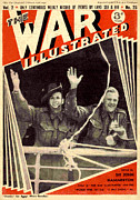 Ww2 Drawings Posters - 1940s Uk The War Illustrated Magazine Poster by The Advertising Archives
