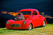 Street Rod Art - 1941 Blown Willys Coupe by Dave Koontz