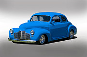 Street Rod Art - 1941 Chevy Coupe Studio by Dave Koontz