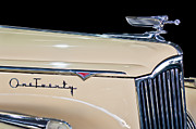 Grill Photo Posters - 1941 Packard Hood Ornament Poster by Jill Reger