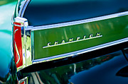 Historic Vehicle Photo Prints - 1941 Sudebaker Champion Coupe Emblem Print by Jill Reger