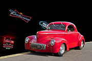 Street Rod Art - 1941 Willys Beer Run by Dave Koontz