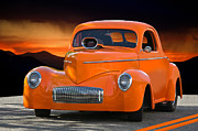 Street Rod Art - 1941 Willys Coupe by Dave Koontz