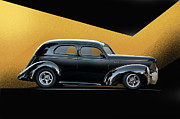 Street Rod Art - 1941 Willys Sedan by Dave Koontz