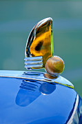 Collector Hood Ornament Posters - 1942 Lincoln Continental Cabriolet Hood Ornament Poster by Jill Reger