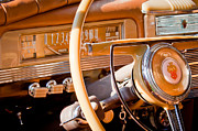 1942 Packard Darrin Convertible Victoria Steering Wheel Print by Jill Reger