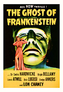 Featured Mixed Media Prints - 1942 The Ghost Of Frankenstein Vintage Movie Art Print by Presented By American Classic Art