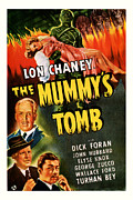 Featured Mixed Media Prints - 1942 The Mummys Tomb Vintage Movie Art Print by Presented By American Classic Art