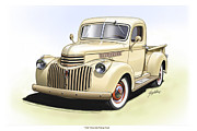 Pick Up Digital Art Posters - 1944 Chevrolet Pickup Truck  Poster by Greg Eilers