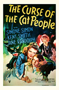 Featured Mixed Media Prints - 1944 The Curse of the Cat People Vitage Movie Art Print by Presented By American Classic Art