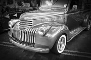 Old Trucks Photos - 1946 Chevrolet Sedan Panel Delivery Truck BW by Rich Franco