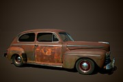 Ford Sedan Prints - 1946 Ford Sedan Print by Tim McCullough