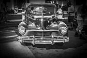 Detailed Rich Prints - 1946 Hudson Super Six BW Print by Rich Franco