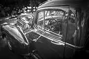 Detailed Rich Prints - 1946 Hudson Super Six Sedan BW Print by Rich Franco