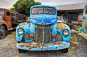 Old Trucks Photos - 1946 International Harvester Truck by Daniel Hagerman