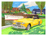 Wooden Ship Mixed Media Prints - 1946 MK I Lincoln Continental Print by Jack Pumphrey