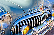 Buick Framed Prints - 1947 Buick Eight Super Grille Emblem Framed Print by Jill Reger