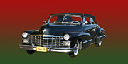 World Series Prints - 1947 Cadillac Sixty Two Convertible Print by Jack Pumphrey