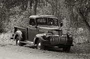 Chevy Pickup Prints - 1947 Chevrolet Pickup with vintage sepia tone Print by Ken Smith