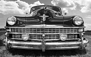 Monochrome Hot Rod Posters - 1947 Chrysler Windsor Poster by John James