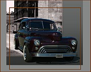 Custom Ford Metal Prints - 1947 Ford Custom with 47 Chevy Grill  Metal Print by Tim McCullough