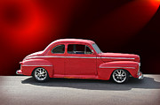 Street Rod Art - 1947 Ford on Stage by Dave Koontz