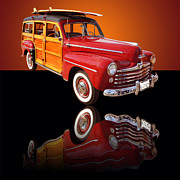 Shows Framed Prints - 1947 Ford Woody Framed Print by Jim Carrell