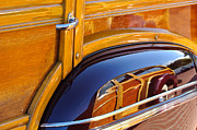 1947 Photos - 1947 Mercury Woody Reflecting into 1947 Ford Woody by Jill Reger