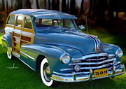 Woodie Car Digital Art - 1947 Pontiac Woody Wagon by Tom Sachse