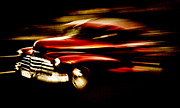 Phil Motography Clark Metal Prints - 1947 Red Chevrolet Metal Print by Phil 