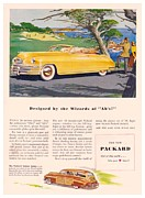 Woodie Car Digital Art - 1948 - Packard Convertible and Station Sedan Advertisement - Color by John Madison