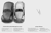 Original Vw Beetle Posters - 1948 and 1965 Volkwagen Beetle  Poster by Digital Repro Depot