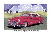 Buick Paintings - 1948 Buick Special Convertible by Jack Pumphrey