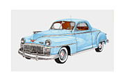 Business Cards Drawings - 1948 DeSoto Business Coupe by Jack Pumphrey
