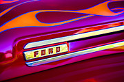 Flames Photo Posters - 1948 Ford Pickup Poster by Carol Leigh