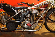 Harley Davidson Photos - 1948 J.A.P. Speedway Racer 5D25615 by Wingsdomain Art and Photography